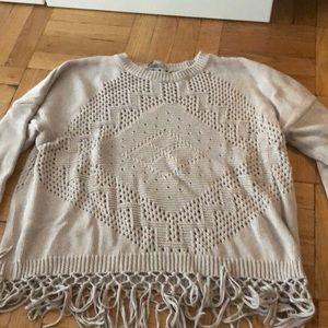 Autumn Cashmere Sweaters - Fall Fringe cotton sweater
